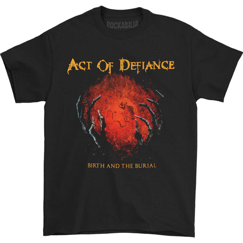 Act Of Defiance Men's  Birth And The Burial T-shirt Black