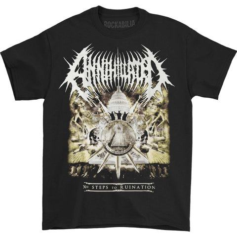 Annihilated Men's  XIII Steps To Ruination T-shirt Black