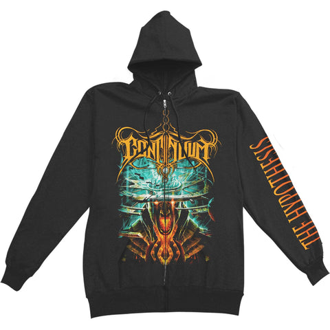 Continuum Men's  The Hypothesis Zippered Hooded Sweatshirt Black