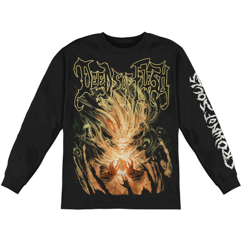 Deeds Of Flesh Men's  Crown Of Souls  Long Sleeve Black