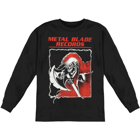 Metal Blade Records Men's  Old School Reaper  Long Sleeve Black