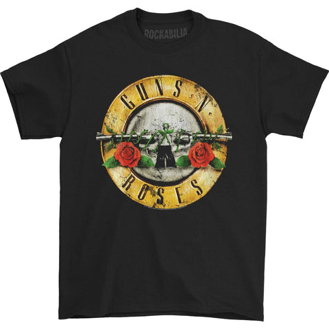 Guns N Roses Men's  Distressed Bullet T-shirt Black