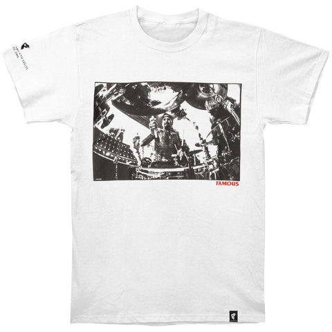Blink 182 Men's  Drums Drums Drums Slim Fit T-shirt White