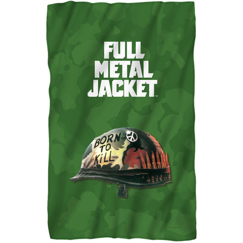 Full Metal Jacket Fleece Blanket