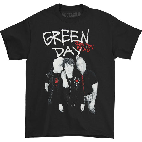 Green Day Men's  Red Hot Tee T-shirt Black