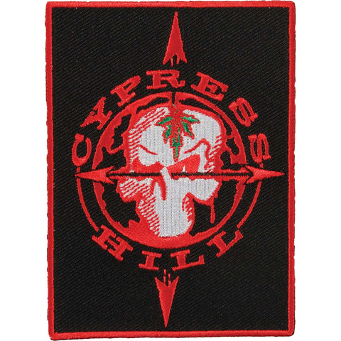 Cypress Hill Men's Skull & Compass Embroidered Patch Red