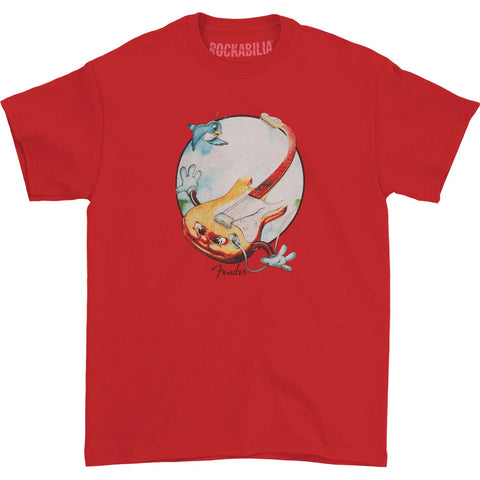 Fender Men's  Flying Guitar T-shirt Red
