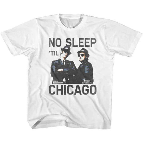 Blues Brothers Men's  No Sleep T-shirt White