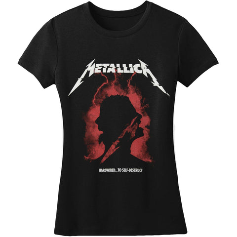 Metallica  Met Brainstorm Black Jr Junior Top Black