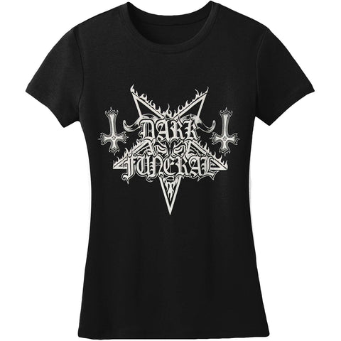Dark Funeral  Logo Tee Womens Junior Top Black