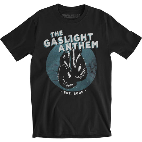 Gaslight Anthem Men's  Gloves Tee Slim Fit T-shirt Black