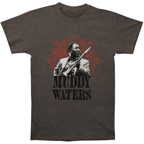 Muddy Waters Men's  Portrait Slim Fit T-shirt Charcoal Hthr