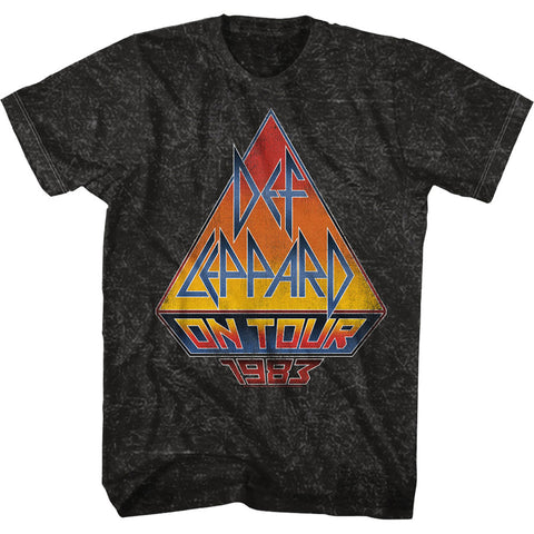Def Leppard Men's  On Tour 83 T-shirt Mineral Wash