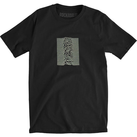 Joy Division Men's  Unknown Pleasures Slim Fit T-shirt Black