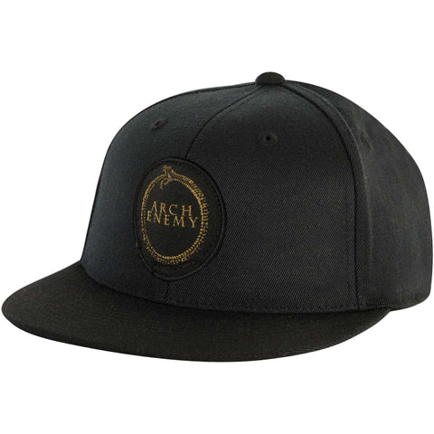 Arch Enemy Men's  Gold Snake Baseball Cap Black