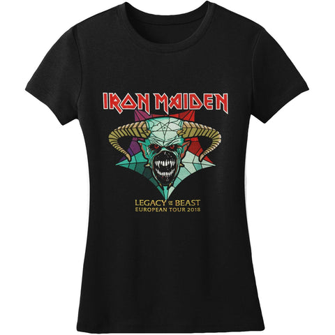Iron Maiden  Legacy Of The Beast Tour Junior Top Black