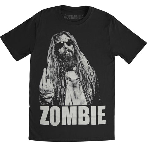 Rob Zombie Men's  No Fucks Given Slim Fit T-shirt Black