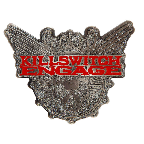 Killswitch Engage Men's Skull Belt Buckle Silver