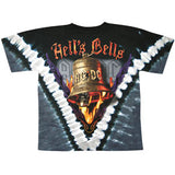 AC/DC Men's  Hell's Bells Tie Dye T-shirt Multi