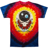 Grateful Dead Men's  Space Your Face Tie Dye T-shirt Multi