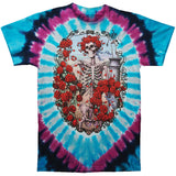Grateful Dead Men's  30th Anniversary Tie Dye T-shirt Multi