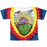 Grateful Dead Men's  Summer Tour Bus Tie Dye T-shirt Multi