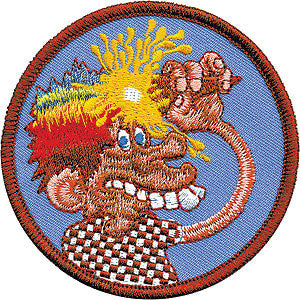 Grateful Dead Men's Embroidered Patch Blue