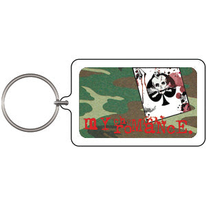 My Chemical Romance Death Card Plastic Key Chain Multi