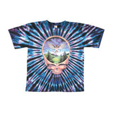 Grateful Dead Men's  Steal Your Face Owl Tie Dye T-shirt Multi