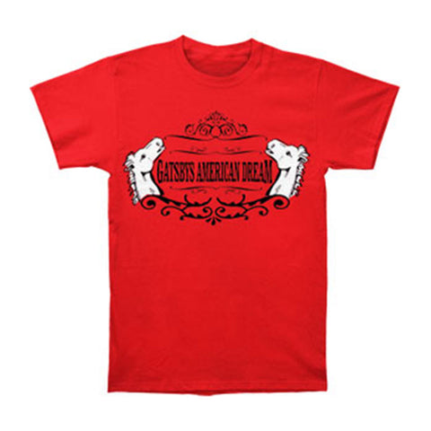 Gatsbys American Dream Men's  Horse T-shirt Red Rockabilia