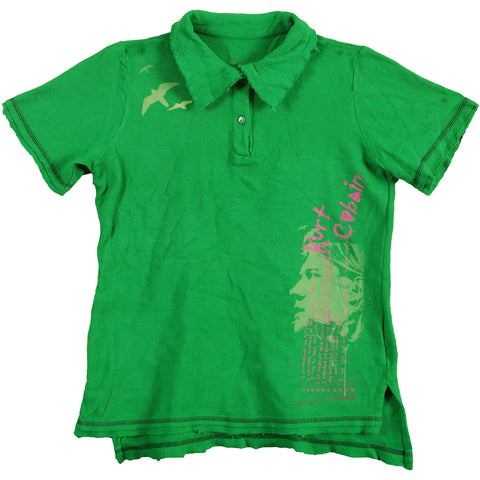 Nirvana Women's  Girls Jr Polo Shirt Green