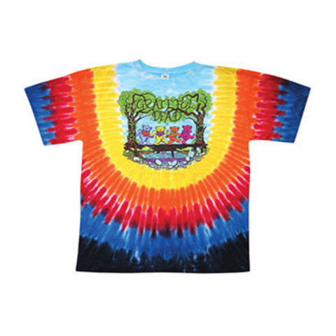 Grateful Dead Men's  Wood Bears Tie Dye T-shirt Multi