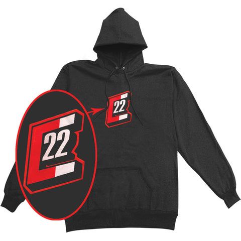 Catch 22 Men's  Hooded Sweatshirt Black Rockabilia