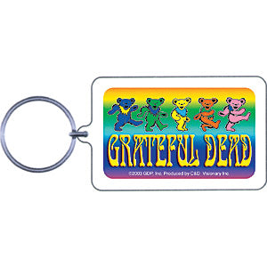 Grateful Dead Dancing Bear Plastic Key Chain Multi