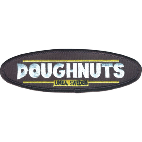 Doughnuts Men's Embroidered Patch Black