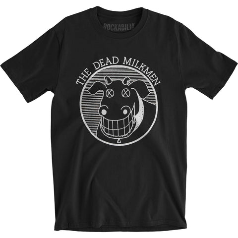 Dead Milkmen Men's  Cow Logo Slim Fit T-shirt Black