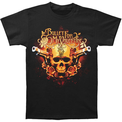 Bullet For My Valentine Men's  Pistols Skull T-shirt Black Rockabilia