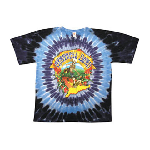 Grateful Dead Men's  Walking Coast To Coast Tie Dye T-shirt Multi