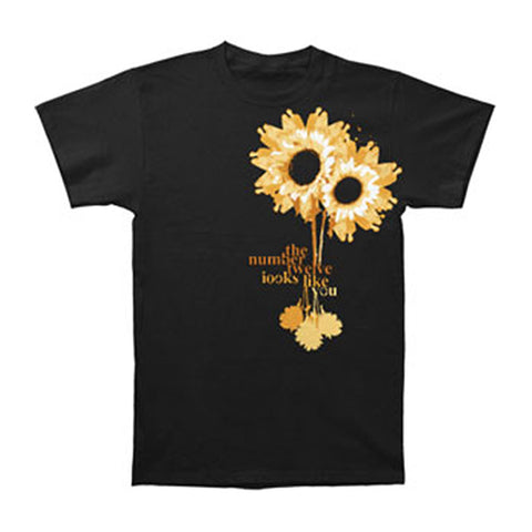 #12 Looks Like You Men's  Daisy T-shirt Black Rockabilia