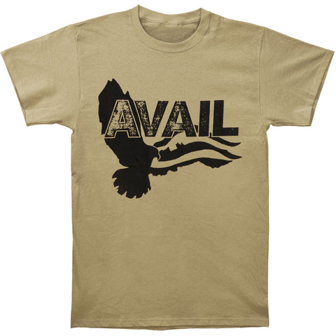 Avail Men's  Over The James Cover T-shirt Ivory