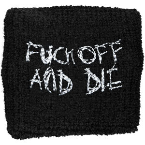 Dark Throne Men's Fuck Off And Die Athletic Wristband Black