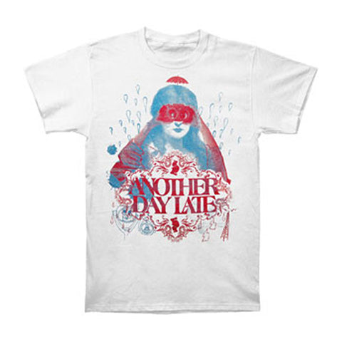 Another Day Late Men's  Masked Girl T-shirt White Rockabilia