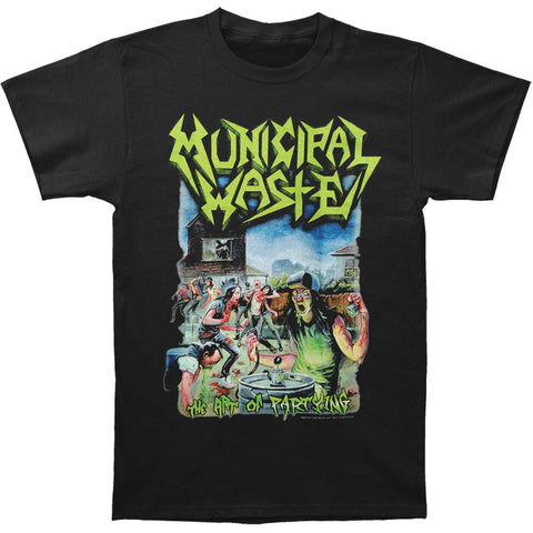 Municipal Waste Men's  The Art Of Partying On Black T-shirt Black