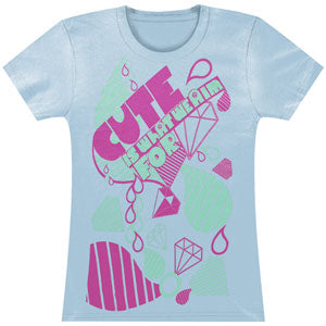 Cute Is What We Aim For  Junior Top Blue