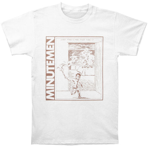 Minutemen Men's  What Makes A Man Start Fires? T-shirt White