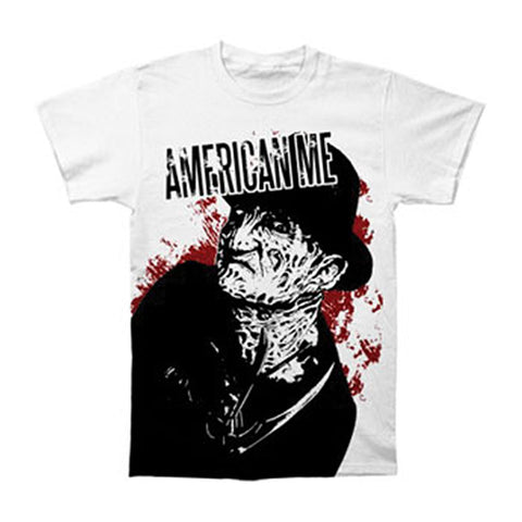 American Me Men's  Nightmare T-shirt White Rockabilia