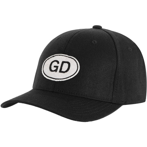 Grateful Dead Men's  GD Oval Baseball Cap Black