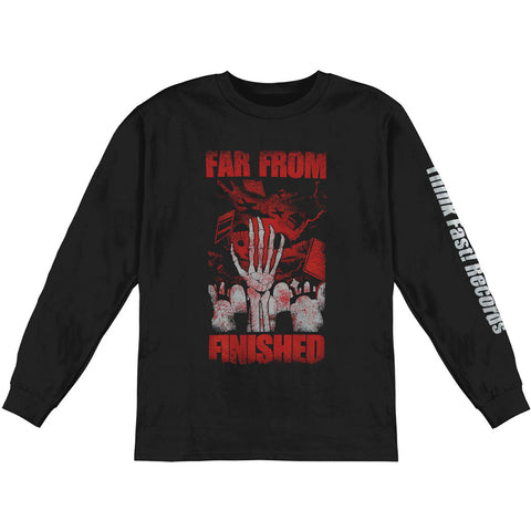Far From Finished Men's  Heroes & Ghosts  Long Sleeve Black Rockabilia