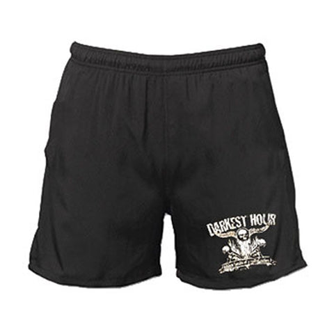 Darkest Hour Men's  Hidden Hands Gym Shorts Black Rockabilia