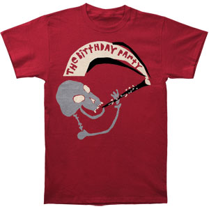 Birthday Party Men's  Mr. Clarinet Slim Fit T-shirt Cardinal